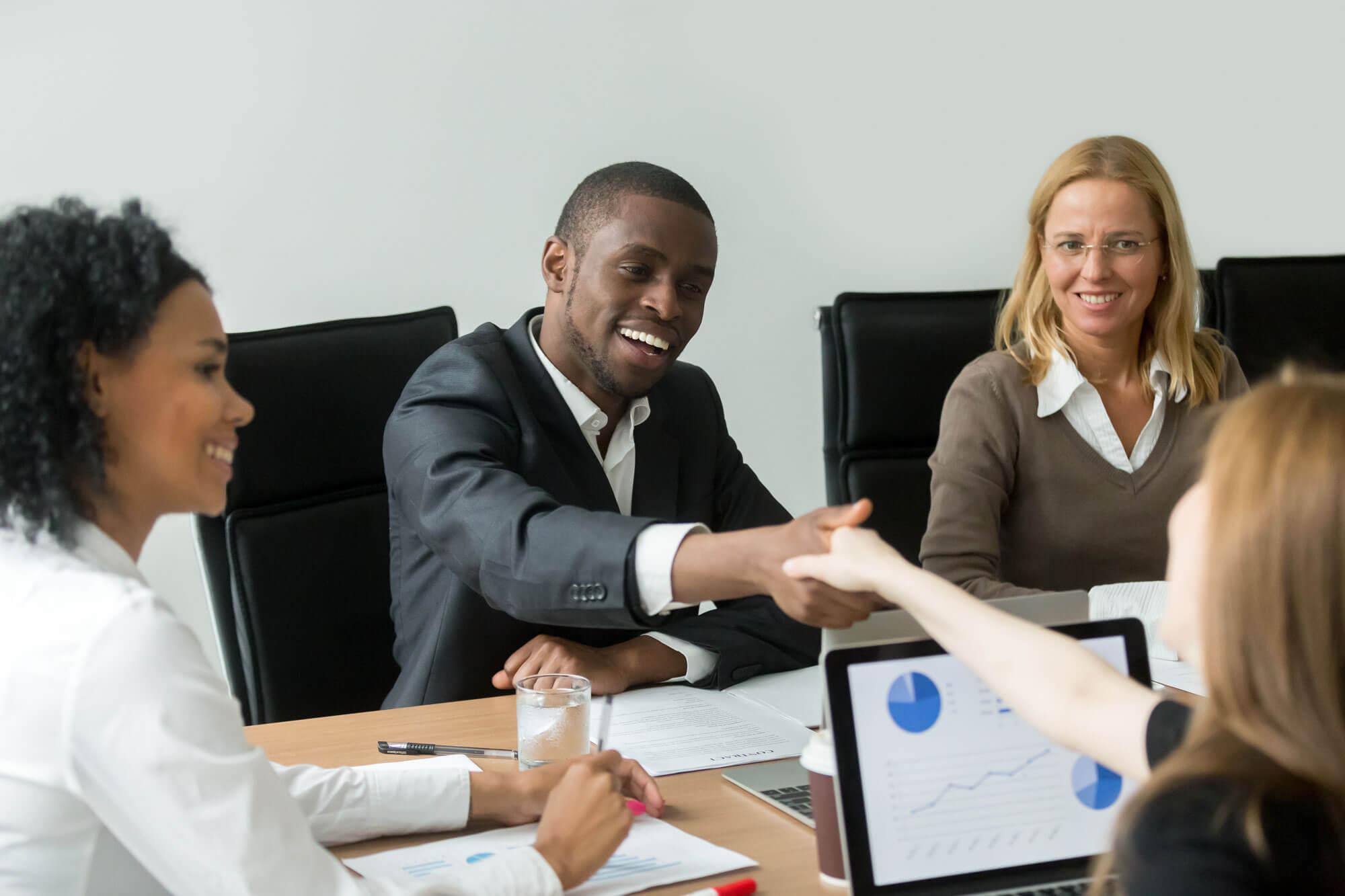 Bewerbungsgespräch im Team